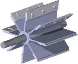Rotary Valve Adjustable Bladed Rotor