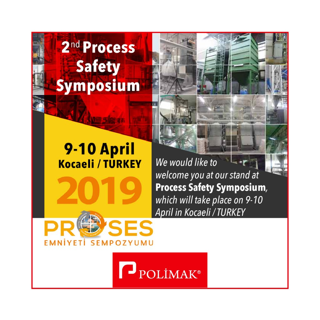 9 - 10 April 2nd Process Safety Symposium Kocaeli Turkey