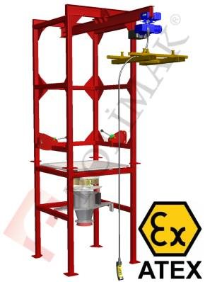 Bulk Bag unloading station Atex certified Ex-proof dust explosion proof