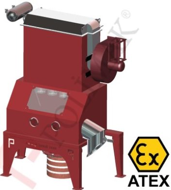 Atex Ex-proof bag dump stations for hazardous powdered materials