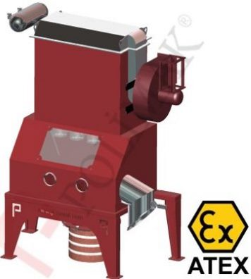 Atex Ex-proof sack discharge stations for hazardous powdered materials