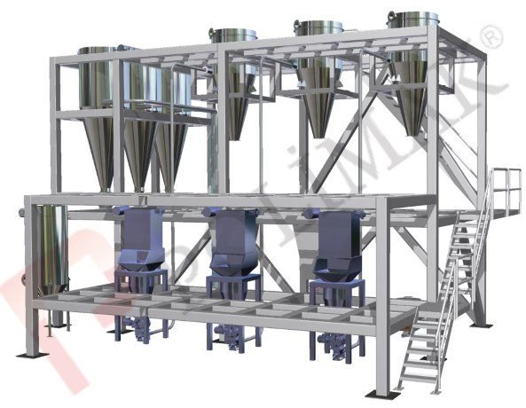 Bag dump stations bulk material transfer batching and weighing automation systems