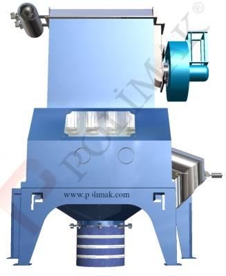 Bulk sack dumping station powder and bulk solid discharging unit
