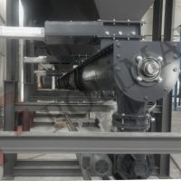 Dust collection system screw conveyor and slidegate valves