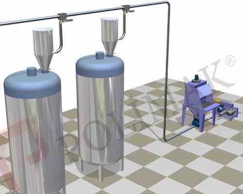Sack Opening station mixer loading dosing weighing system