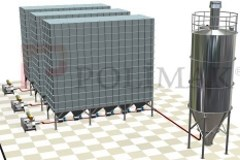 Baghouse filter emptying pneumatic transportation and silo filling system for dust handling