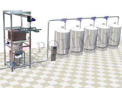Big bag boşaltma istasyonu mikser besleme sistemi