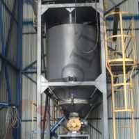 Bulk bag unloading dosing system