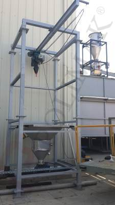 Big Bag Discharge cyclone filling system