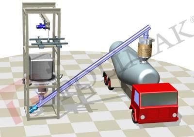 Big bag discharge bulk truck loading system