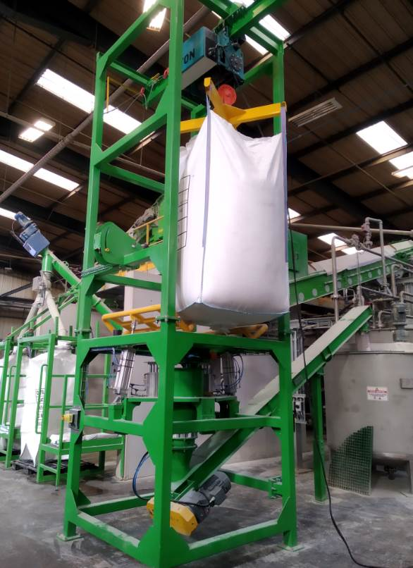 Big bag Emptying systems Chemical powders=