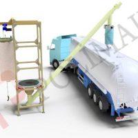 Big bag emptying system tanker loading bellow truck filling