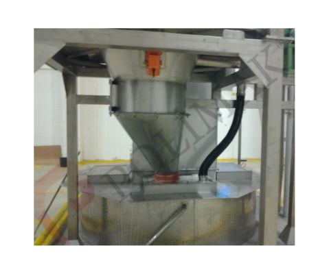 Stainless steel big bag unloading station hopper