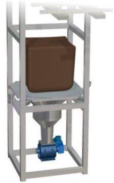 Big bag unloading station rotary valve blowing seals