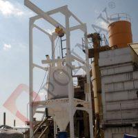 Big bag discharging silo filling