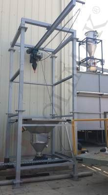 Big Bag unloading cyclone filling system