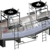 Reactor tank loading from bulk bags by FIBC unloader