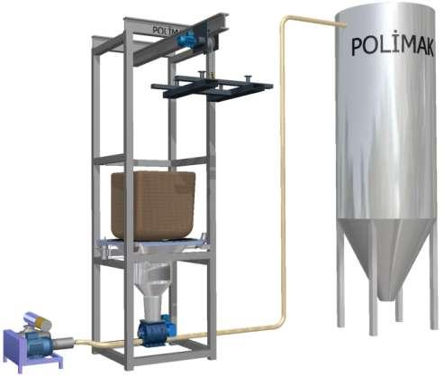 Big bag boşaltma istasyonu silo dolum sistemi