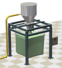 Dust collector of bigbag filling system.