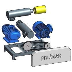 Blower aksesuarları bileşenleri filtre kayış kasnak motor emniyet valfi basınç göstergesi vakum saati