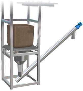 Big bag emptying station screw feeder conveyor