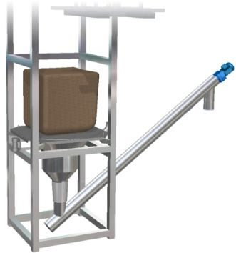 Big bag unloading station screw feeder conveyor