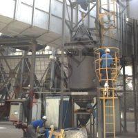 FIBC bulk solid unloading weighing batching dosing conveyor