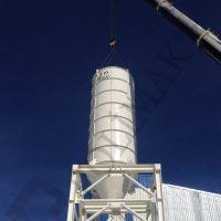 Calcium carbonate powder storage silo
