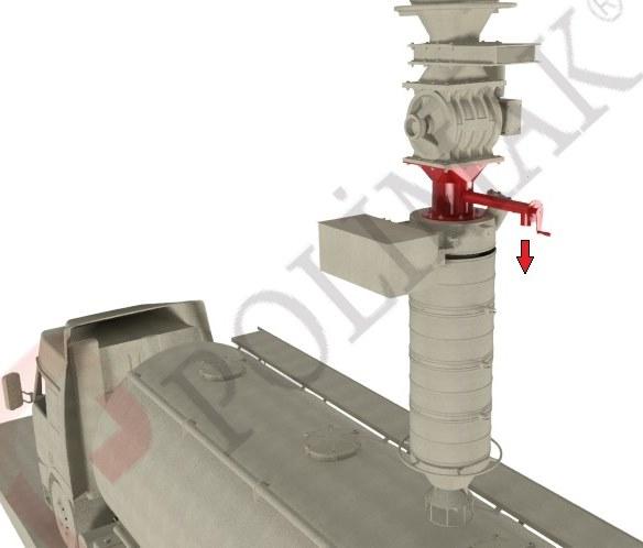 Bulk material powder Sampler device for truck loading spout
