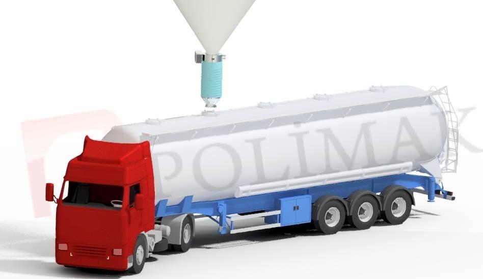 Tanker Loading Spout Telescopic chute for bulk tanker loading