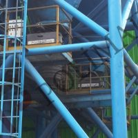 Raw material filling to trucks silo discharge systems loading spouts telescopic chutes