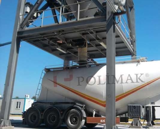 Bulk tanker truck loading bellow