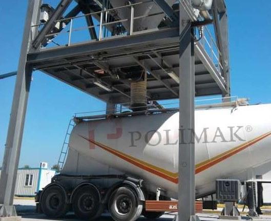 Bulk tanker truck loading telescopic chute