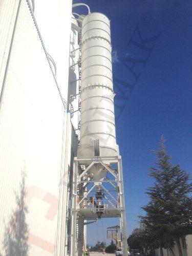 Powder loading silo storage bulk filling discharging calcium carbonate silos with telescopic chute truck loading