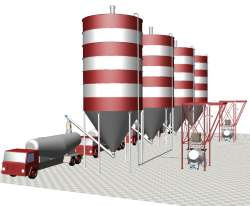 Cement handling plant storage loading discharging
