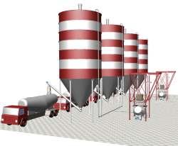 Cement handling plant storage loading discharging