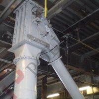 Gravity discharge pneumatic conrol bulk material powder valve