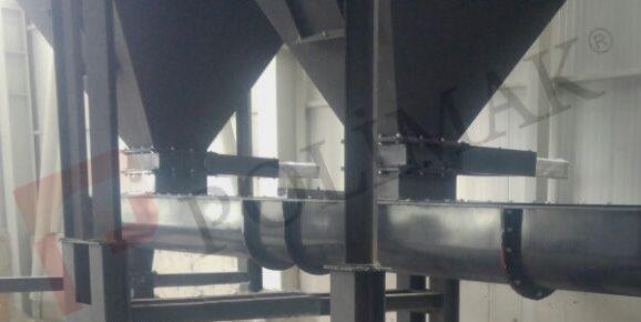 Çok girişli u tipi helezon konveyör vidalı götürücü tozsuzlaştırma jet filtre bunkeri pulse jet mekanik konveyör