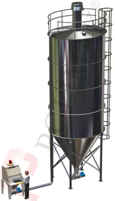 Çuval boşaltım istasyonlari pnömatik havalı taşıma silo dolum sistemleri
