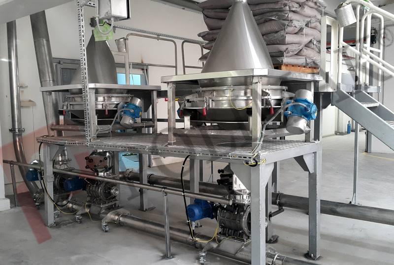 Pnömatik transfer çuval torba boşaltma gıda hammadde yükleme boşaltma sistemleri