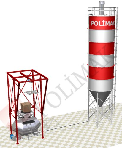 Dense phase pneumatic conveying and big bag unloading system for silo loading