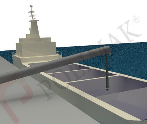 Gemi yükleme teleskopik dolum şutu bantlı konveyör