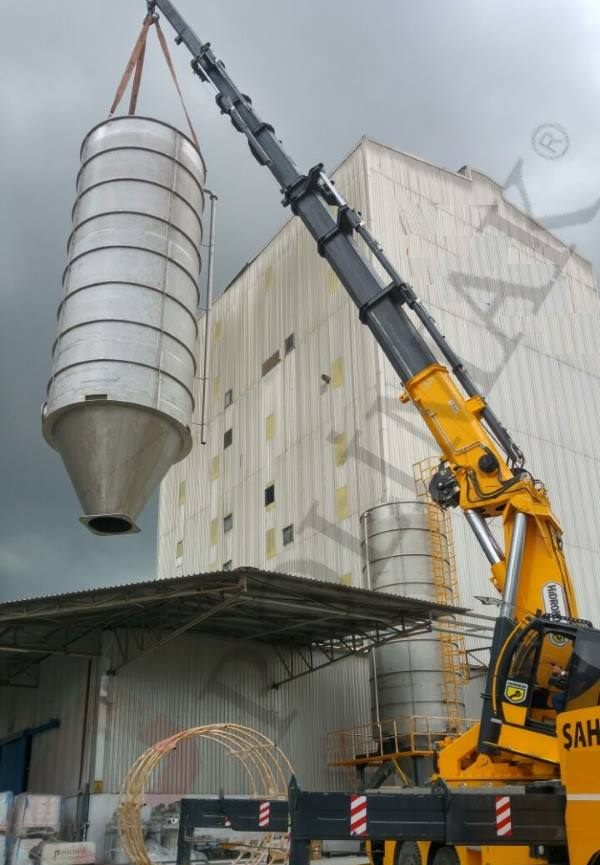 Dry bulk material storage silo erection installation and commissioning turnkey powder handling applications