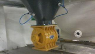 Rotary Airlock Installed Below Dust Collector Hopper