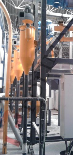 Dust collection systems for big bag unloading stations