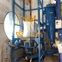 Big bag bulk powder dust collector big bag discharger safety environment