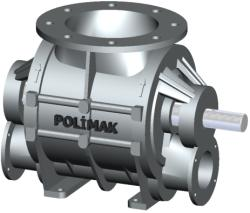 Blow Through Rotary Valve With Pipeline Connection Flanges