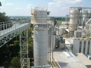 Industrial plant de-dusting system jet filter