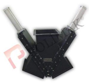 Custom designed engineered diverter valves conveying line diverter valves bulk solid conveying powder handling 2 way line diverter valves