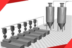 Plastics granules handling feeding systems conveying